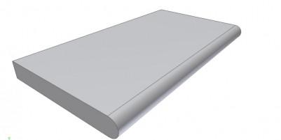 Бортовой (копинговый) камень прямой Helsinki ScandiRoc-White для облицовки борта бассейна