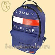 Рюкзак городской спортивный Tommy Hilfidger синий  (видеообзор)