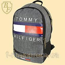 Рюкзак городской спортивный Tommy Hilfidger серый  (видеообзор)