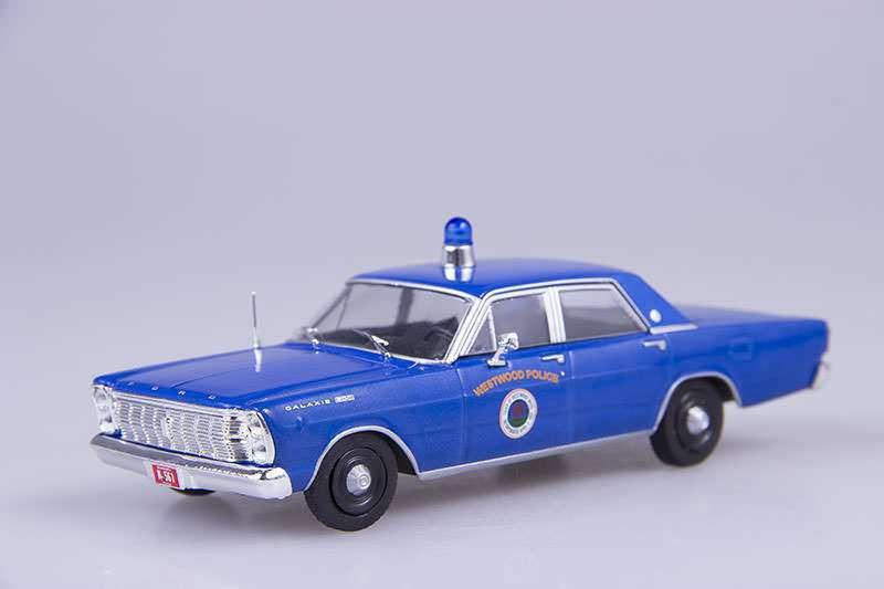 Полицейские Машины Мира №46 Ford Galaxie 500 1965 | Коллекционная модель 1:43 | DeAgostini