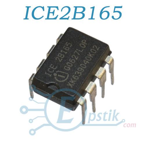 ICE2B165, ШИМ контроллер с встроенным ключом, 800В, DIP8