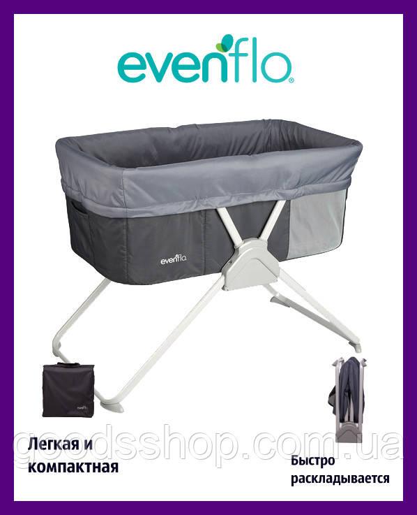 Детская кроватка колыбель Villi бежевый дитяче ліжечко колиска Evenflo