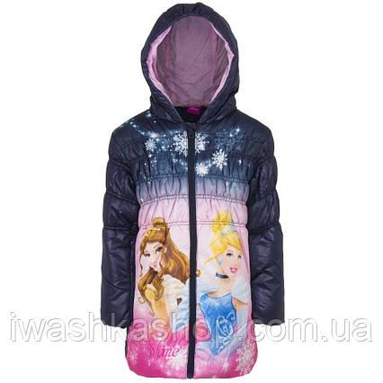 Стильная демисезонная куртка с принцессами, Золушка, Белль на девочку 3 лет, р. 98, Disney / Princess
