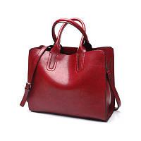 Большая женская сумка Classic красная, фото 1