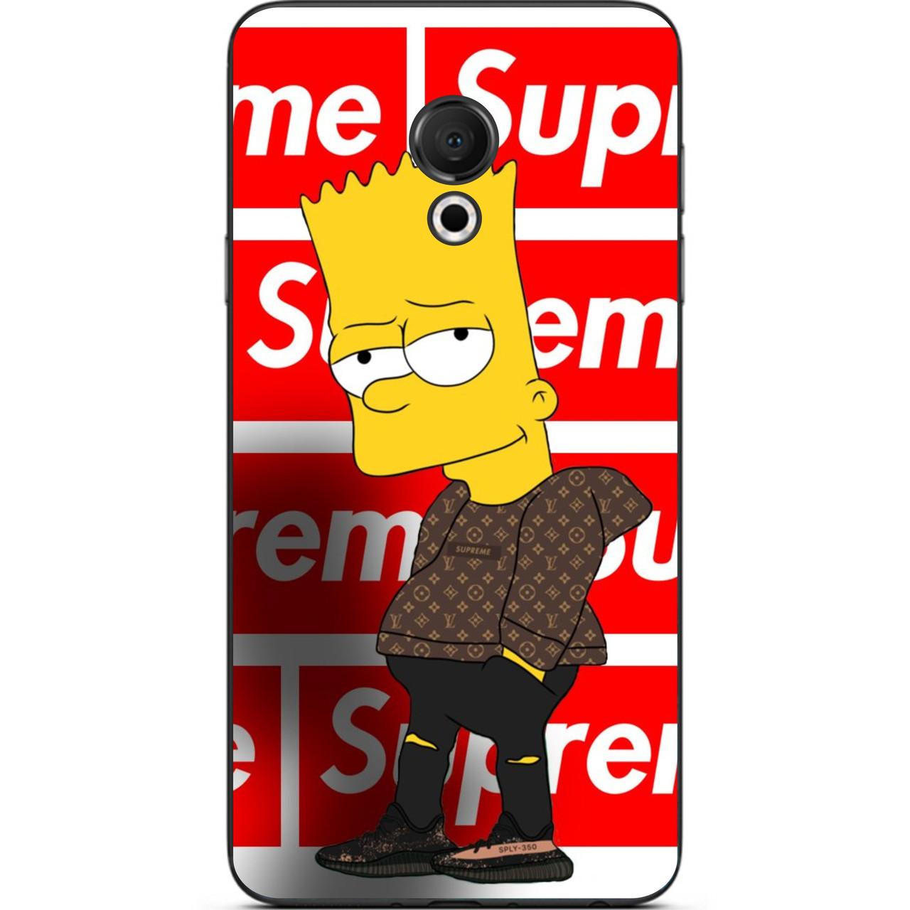 Силіконовий чохол для Meizu 15 Lite з картинкою Сімпсон