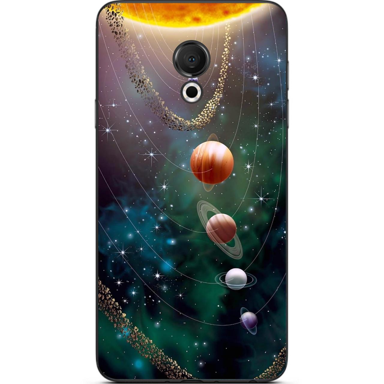 Силіконовий чохол для Meizu 15 Lite з картинкою Планети