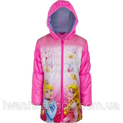 Стильная демисезонная куртка с принцессами, Золушка, Аврора на девочку 3 лет, р. 98, Disney / Princess