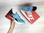 Женские кроссовки Nike Air Max 270 (голубо-красные), фото 2