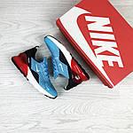 Женские кроссовки Nike Air Max 270 (голубо-красные), фото 3