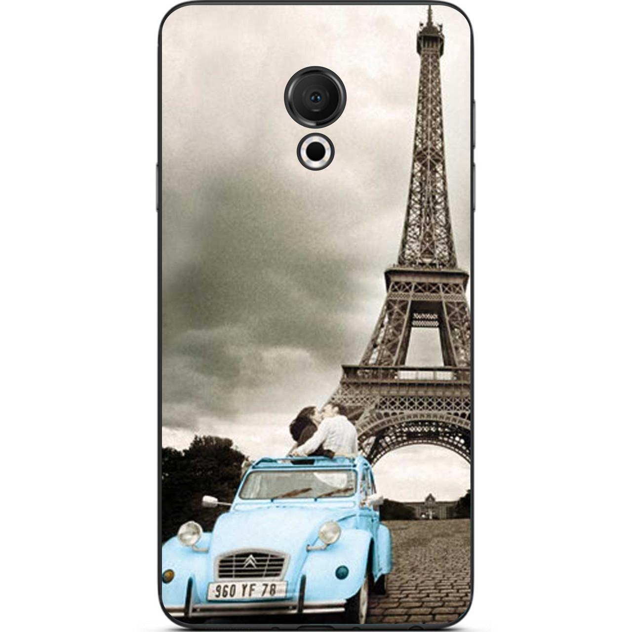 Силиконовый чехол бампер для Meizu 15 Lite с картинкой Париж