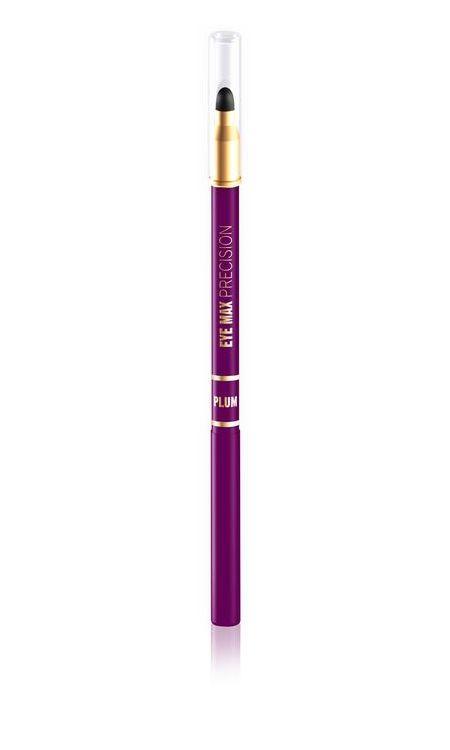 Автоматический карандаш для глаз с растушевкой сливовый, 1.2 г , Eveline Cosmetics Eye Max Precision