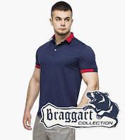 Мужская футболка поло 6618 т.синий-красный