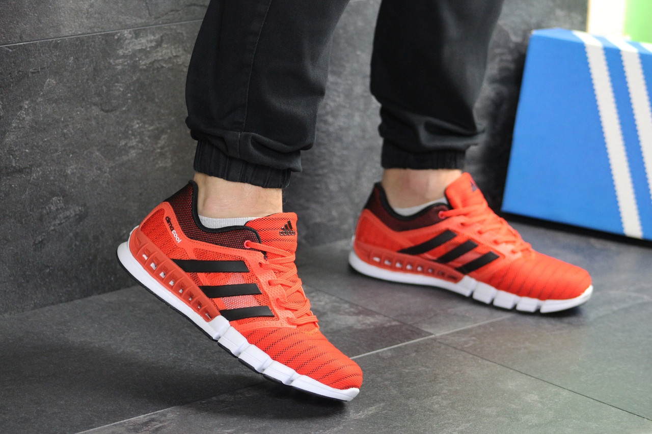 Мужские кроссовки Adidas Clima Cool (оранжевые)
