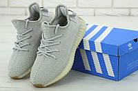 Мужские серые кроссовки Adidas Yeezy Boost 350 V2, фото 1