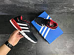 Мужские кроссовки Adidas Clima Cool (темно-синие с белым и красным), фото 3