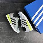 Мужские кроссовки Adidas Clima Cool (светло-серые с салатовым), фото 2
