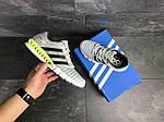Мужские кроссовки Adidas Clima Cool (светло-серые с салатовым), фото 3