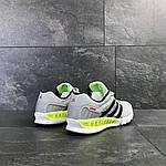 Мужские кроссовки Adidas Clima Cool (светло-серые с салатовым), фото 4