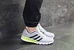 Мужские кроссовки Adidas Clima Cool (светло-серые с салатовым), фото 5