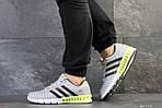 Мужские кроссовки Adidas Clima Cool (светло-серые с салатовым), фото 6