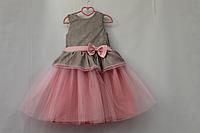 """Нарядное платье на девочку """" Блестящая нежность"""" с розовым фатином"""