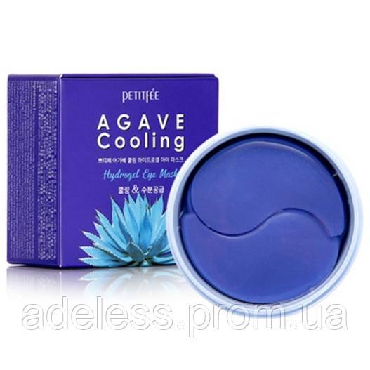 Гидрогелевые охлаждающие патчи для глаз с экстрактом Агавы Petitfee Agave Cooling Hydrogel Eye Mask, 60шт