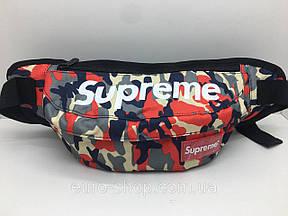 Поясна сумка Supreme Червоний камуфляж сумка на пояс