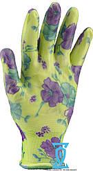 Перчатки садовые с силиконовым покрытие цветок (Китай)