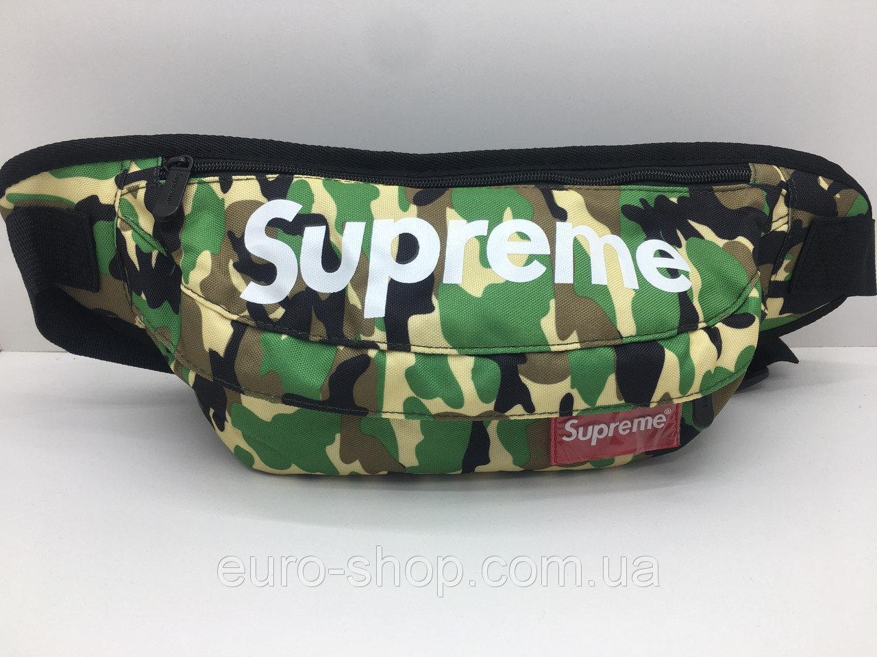 Поясная сумка Supreme КАМУФЛЯЖ сумка на пояс