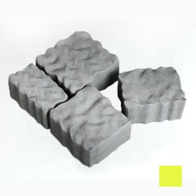 Тротуарная плитка сухопрессованная «Австрийский камень» желтая 60 мм (кв.м)
