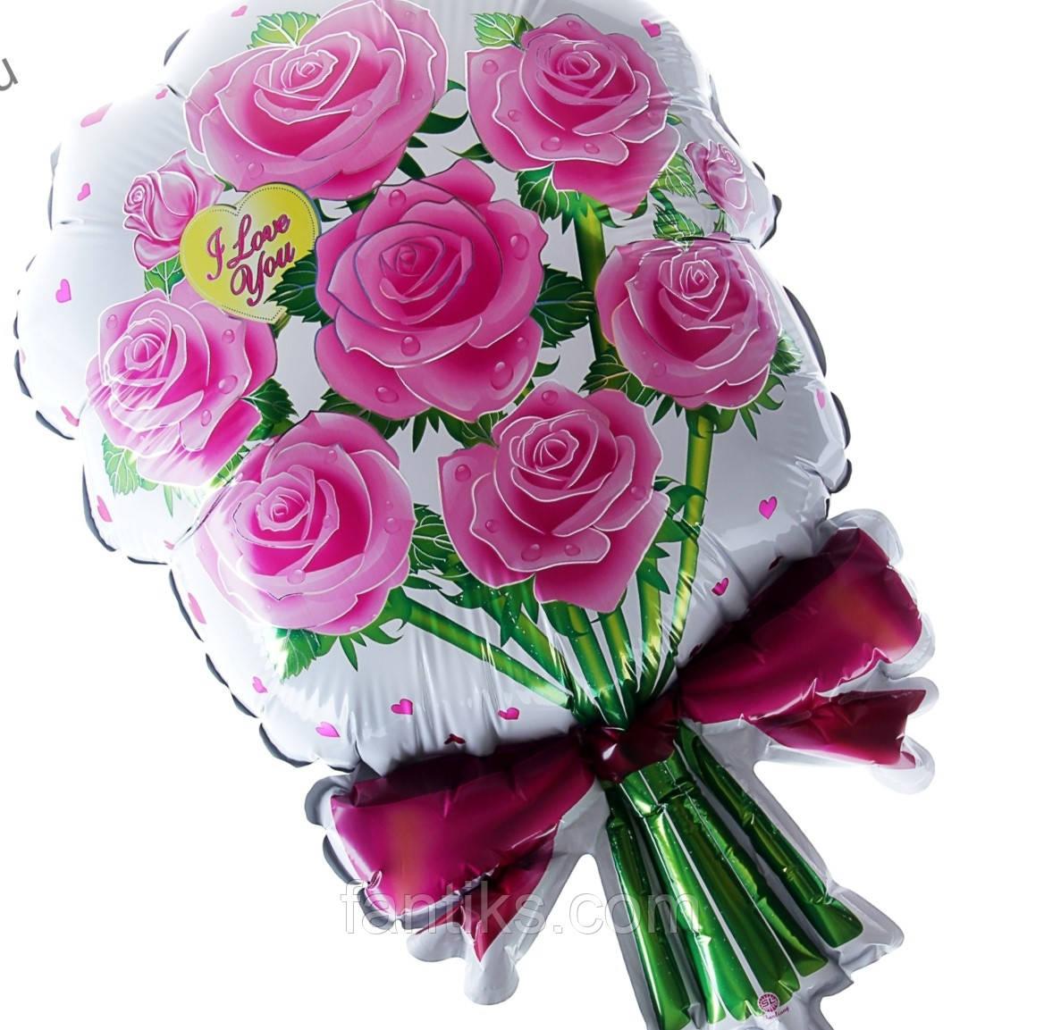 """""""Букет гипоаллергенный""""-розовый.Фольгированный воздушный шар"""