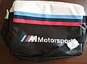 Городская сумка BMW M Motorsport Messenger Bag, Black/White (80222461144), фото 9