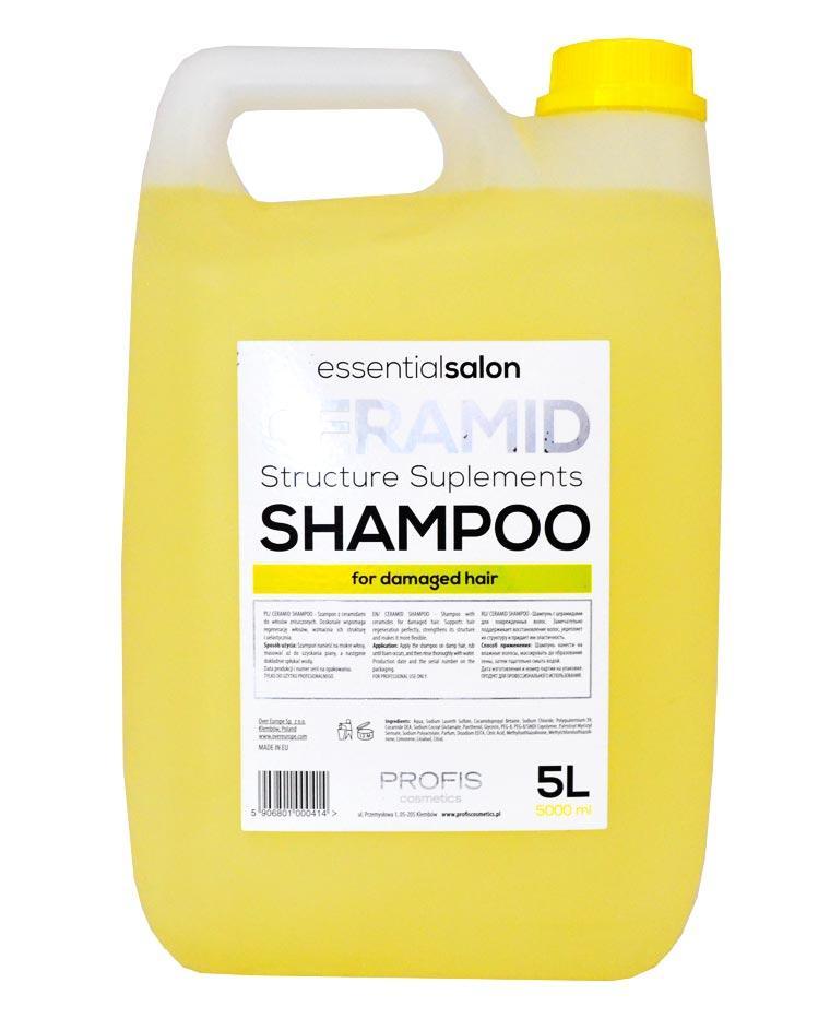 Шампунь для поврежденных волос с керамидами, 5л, Profis Ceramid, Профис