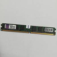 Оперативная память Kingston Low Profile DDR2 2Gb 667MHz PC2 5300U 2R8 CL5 Б/У MIX