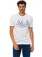 Белая мужская футболка Lc Waikiki / Лс Вайкики с надписью Classic Yacht Regatta, фото 1