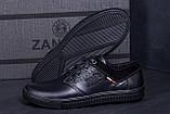 Мужские кожаные кеды Hilfiger Denim USA Black, фото 8