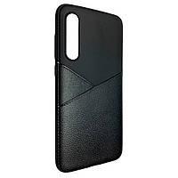 Чехол-накладка DK-Case силикон кожа Karmann для Samsung A50 (black)