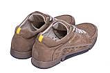 Мужские кожаные летние кроссовки, перфорация Columbia Latte, фото 3