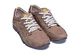 Мужские кожаные летние кроссовки, перфорация Columbia Latte, фото 4