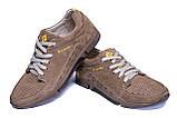 Мужские кожаные летние кроссовки, перфорация Columbia Latte, фото 5