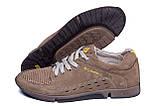 Мужские кожаные летние кроссовки, перфорация Columbia Latte, фото 6