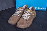 Мужские кожаные летние кроссовки, перфорация Columbia Latte, фото 7