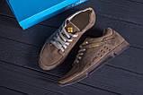 Мужские кожаные летние кроссовки, перфорация Columbia Latte, фото 8