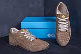 Мужские кожаные летние кроссовки, перфорация Columbia Latte, фото 9