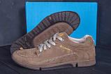 Мужские кожаные летние кроссовки, перфорация Columbia Latte, фото 10