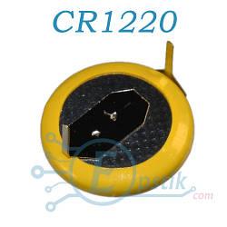 Батарейка CR1220 литиевая с контактами, 3V
