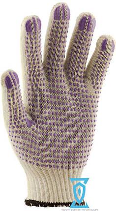 Перчатки рабочие синтетика белая (Польша), фото 2