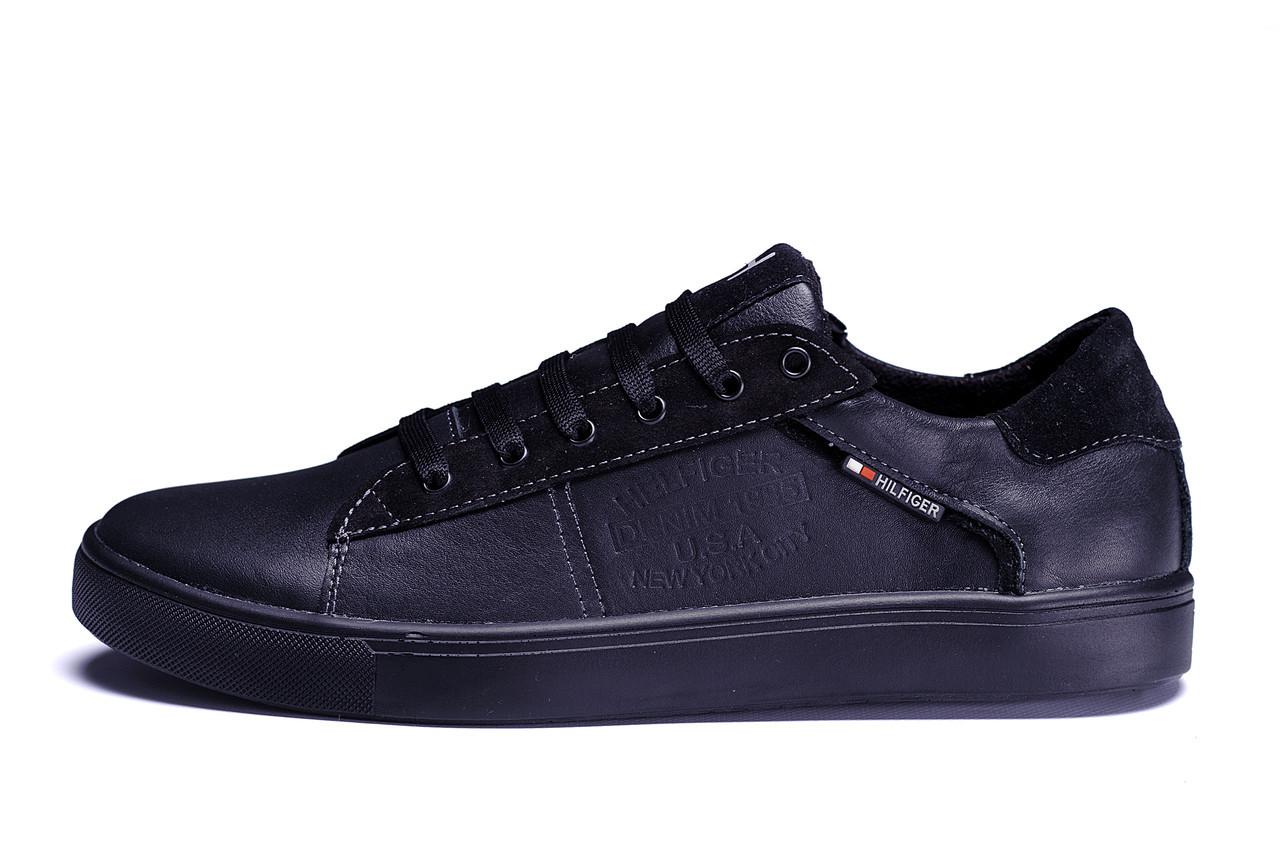 Мужские кожаные кеды TН Black Leather ;
