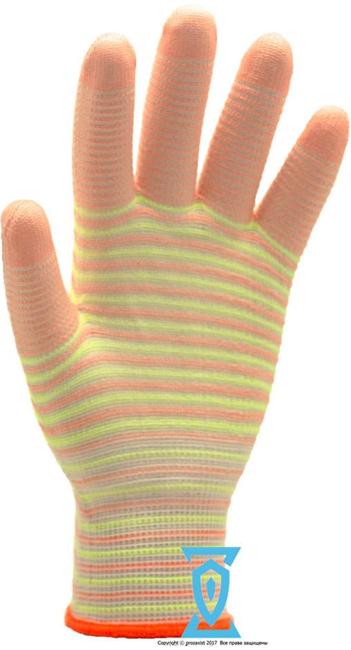 Перчатки рабочие с полиуретановым покрытием (Ребро)