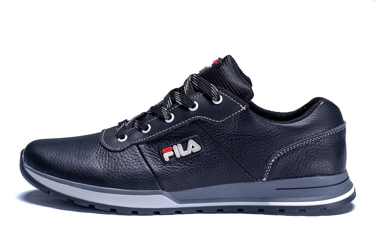 Мужские кожаные кроссовки FILA  Light Flight Black